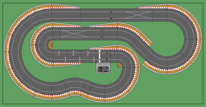 8x4 Layouts Scalextric Digital Track Designs